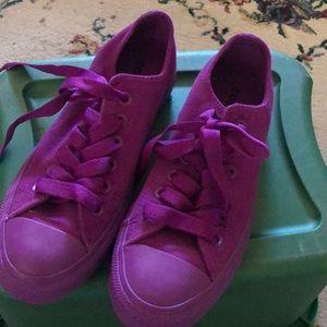 Purple suede converse